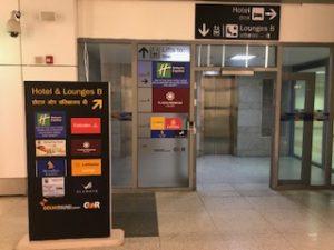 デリー空港ラウンジBのエレベーター