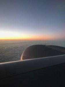 アメリカで朝日が昇る