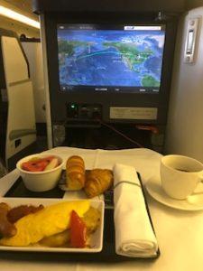 ANAの機内食(朝食)