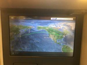 成田→NYのフライトマップ