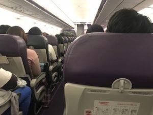 ピーチ航空の機内の雰囲気