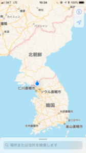 朝鮮半島の国境地図