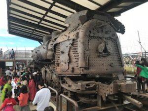 満鉄の錆びた列車